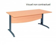Bureau - IDRA - largeur 180 cm - Chêne/anthracite
