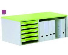 Rehausseur de rangement box - IDRA - Aluminium/violet