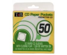 Pack de 50 pochettes papier CD T'nB - Couleurs
