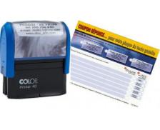Tampon Printer 40  COLOP -  encrage automatique - 6 lignes de textes - Noir