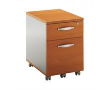Caisson mobile 2 tiroirs TWIN, largeur : 42 cm