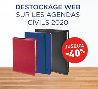 Déstockage agendas 2020 -40%