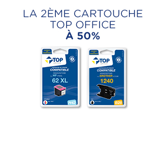 2ème Cartouche Top Office à 50%