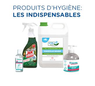 Tous les produits d'hygiène