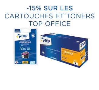 Offre promotionnelle Top Office -15% sur les cartouches et toners