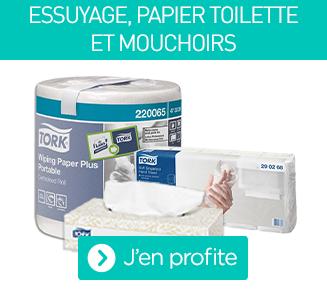 L'essuyage, les mouchoirs et le papier toilette