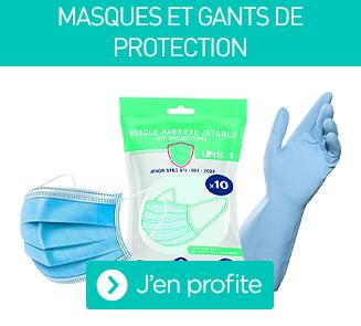 Les masques et gants de protection