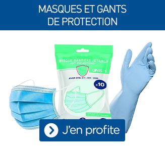 Masques et gants de protection
