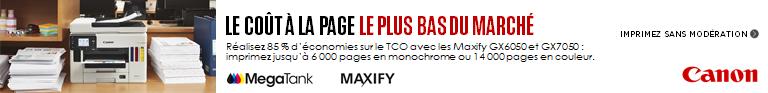 Bannière Canon Maxify