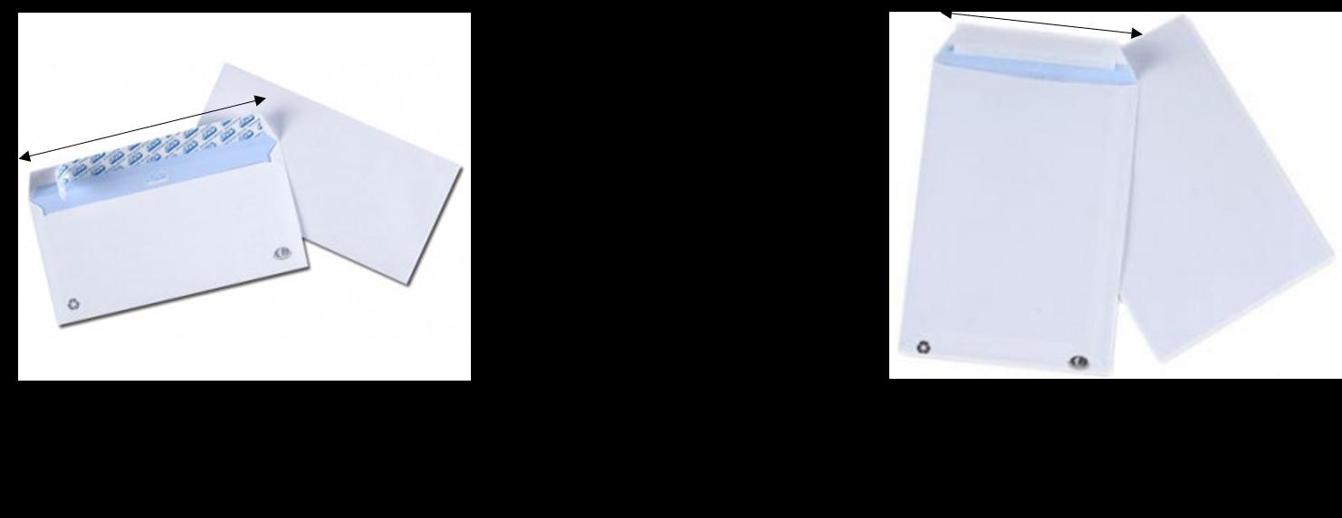 différence enveloppe et pochette