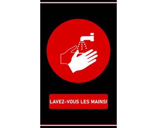 tapis lavez-vous les mains